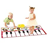SainSmart Jr. 2-in-1 Foldable Music Mat, Functional Jam Drum&Piano Playmat, Recordable Musical Instruments