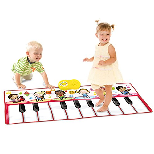 SainSmart Jr. 2-in-1 Functional Drum & Piano Foldable Music Mat (Jumbo Piano Mat) by SainSmart Jr.