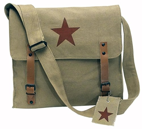 Rothco Khaki Vintage Medic Bag With Brown Star