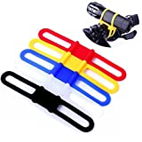 Ezyoutdoor 5 PCS Bike Flashlight Holder Cycling Bicycle Bike Mount Holder for LED Flashlight Torch Clip Clamp Riding Biking Random Color For Sale