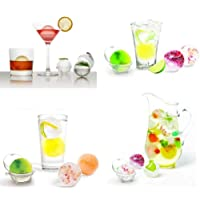 CHOUREN 4Pcs Party Bar Plastic Cute Ice Cube Ball Tray Round Maker Sphere Mold Mould