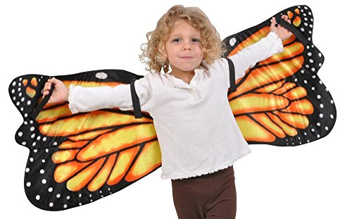 Monarch Butterfly Plush Wings by Adventure Kids: Fits Most with 44 inch Wingspan (Monarch Butterfly Costume)