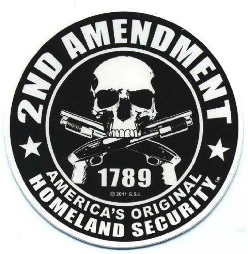 Motorcycle Decal Sticker - Motorcycle Helmet Sticker - 2nd Amendment America's Original Homeland Security