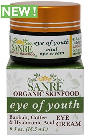 SanRe Organic Skinfood – Eye of Youth – Anti-Aging Eye Cream – Holistic, Non-GMO Gluten Free