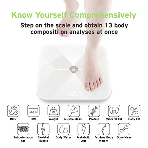 Etekcity Smart BMI Scale, Bluetooth Body Fat Scale 무선..
