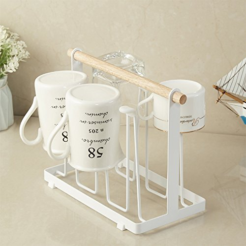 Casualux home Tosca Glass Stand Cup Drying Rack Stand, Non