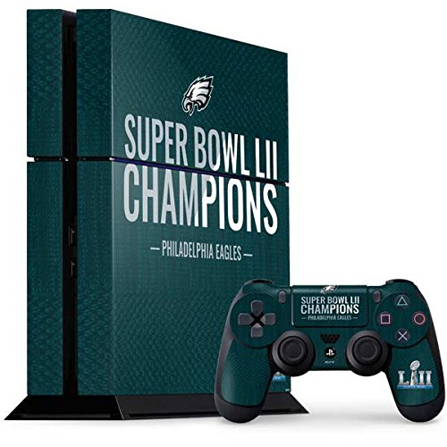 Skinit NFL Philadelphia Eagles PS4 Console and Controller Bundle Skin - Philadelphia Eagles Super Bowl LII Champions Design - Ultra Thin, Lightweight Vinyl Decal Protection