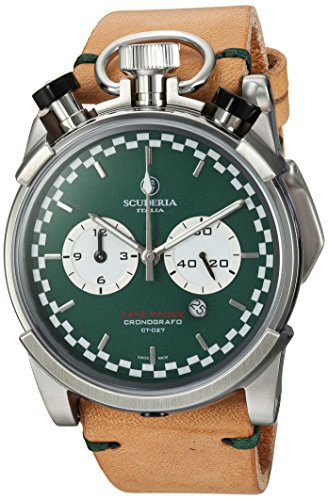 CT-Scuderia-Mens-Corsa-Caf-Racer-Swiss-Quartz-Stainless-Steel-and-Leather-Casual-Watch-ColorBeige-Model-CS20121