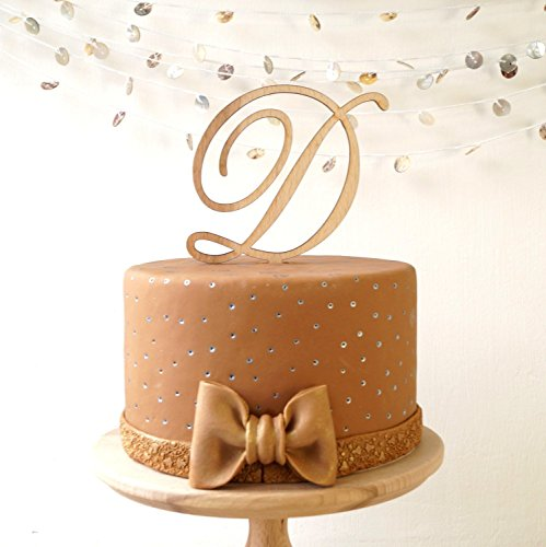 Single-monogram-cake-topper-wedding-cake-topper-wooden-cake-topper-wood-monogram-letter-rustic-cake-topper-Your-choice-of-wood