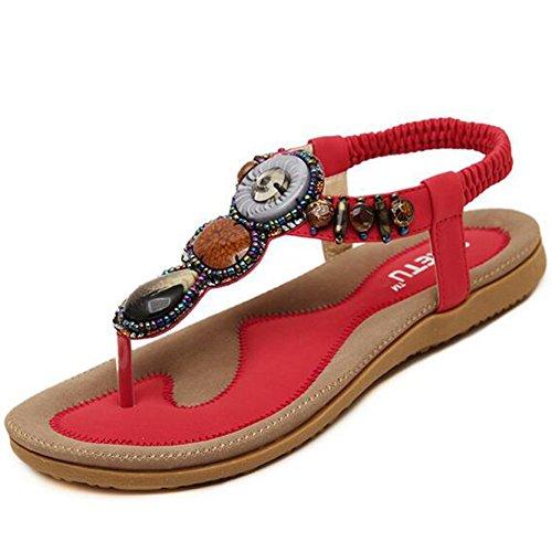 SUNAVY - Zapatos de tacón  Mujer Rojo