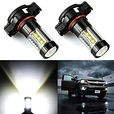 JDM ASTAR Extremely Bright Max 80W High Power 5202 5201 LED Bulbs for DRL or Fog Lights, Xenon White
