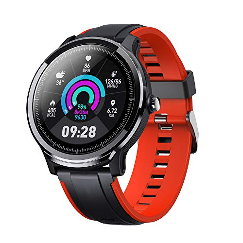 Smart Watch for Android and iOS Phone, Fitnees Tracker with 1.3″ Full Touch Screen Pedometer Heart Rate Sleep Monitor Tracker IP68 Waterproof Watch for Men Women