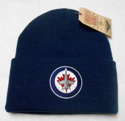fan products of NHL American Needle Winnipeg Jets Basic Knit Beanie Hat