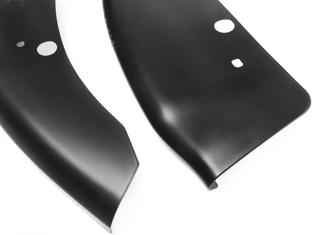 Gloss Black Lower Lip Guard Pair IKON MOTORSPORTS Front Lip Protector Compatible With 2015-2019 Dodge Charger Scat Pack SRT
