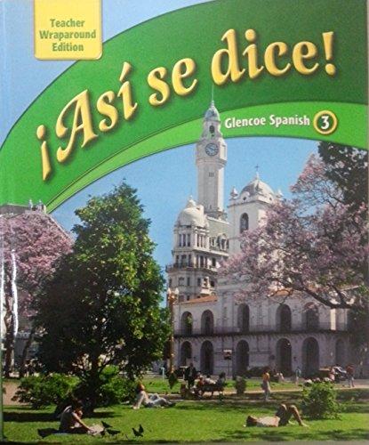 Librarika Asi Se Dice Glencoe Spanish 1 Teacher