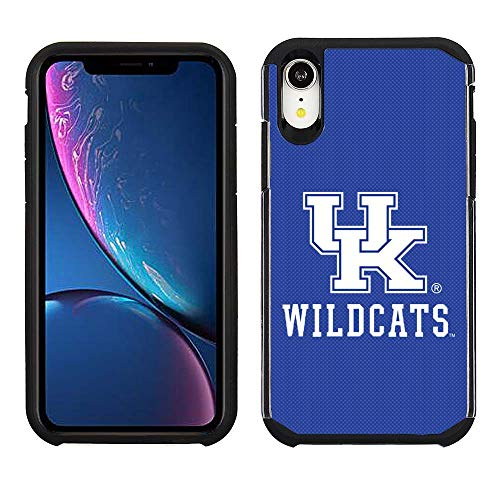Prime Brands Group Cell Phone Case for Apple iPhone XR - Blue/Black - NCAA Licensed Case for Kentucky Wildcats -