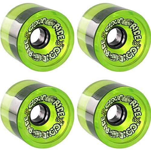 報いる居住者簡単なクラウドRideホイールクルーザー透明グリーンLongboard Skateboard Wheels – 69 mm 78 a ( Set of 4 )