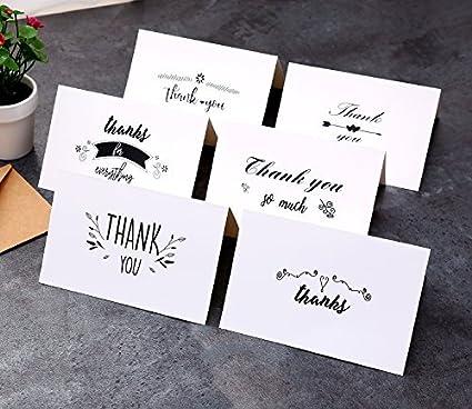 amazon com ohuhu assorted thank you cards 48 pack thank u