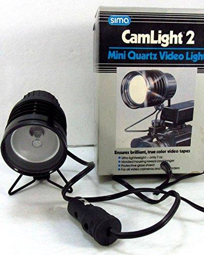 Vintage 1987 Sima CamLight 2 Mini Quarts Video Light Model SLA-2 AC Camlight 2