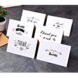 Ohuhu Thank You Card, 48 Thank U Greeting Cards Folded Thank You Note Cards of 6 Designs W/ 48 Envelopes for Wedding, Graduation