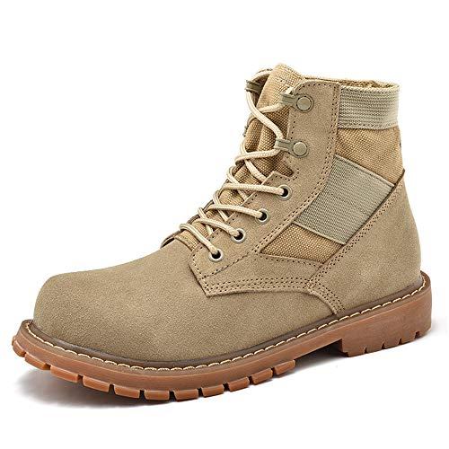 los Botas de Cream Jusheng OX Cream Gama de coloured Zapatos Tobillo Cuero 46 Personalidad tamaño Trabajo de Color Alta Gamuza Hombres Coloured Gran tamaño EU de Casual de de nIqddA