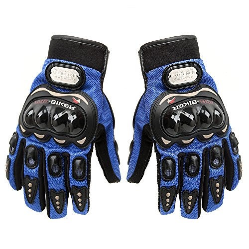 Carbon Fiber Motorcycle Motorbike Cycling Racing Full Finger Gloves Tonsiki (Blue, L) (Bike Cycle Motor compare prices)