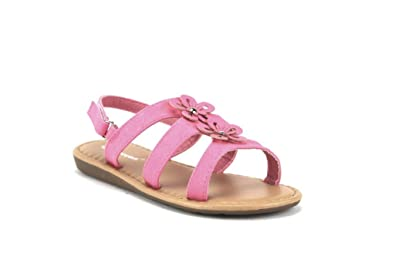 bf6c6ee6daa Ositos Toddler Girls SEZ-07I Gladiator Caged Flower Sandals