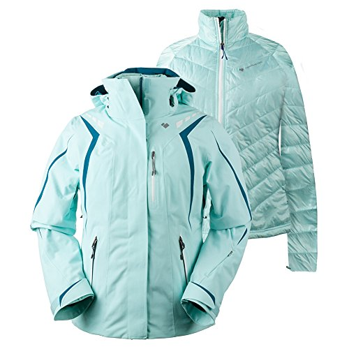 Obermeyer Women's Juno System Jacket Sea Glass 6 by Obermeyer