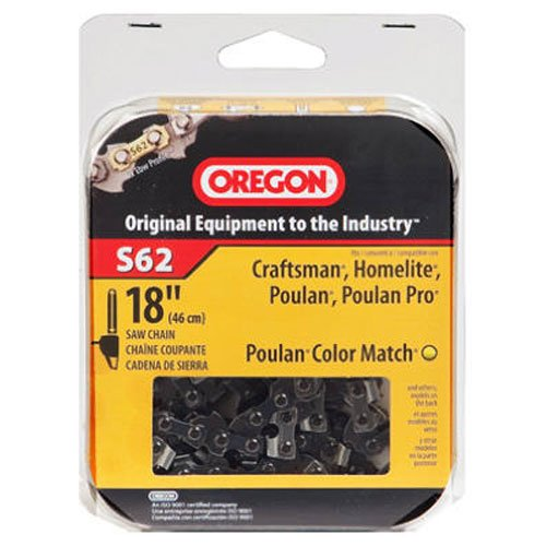 Oregon S62 18-Inch Semi Chisel Chain Saw Chain Fits Craftsman, Homelite, Poulan (Oregon Saw Blades)