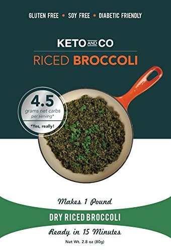 Keto and Co - Dry Riced Broccoli - 5 Servings, 1lb Prepared