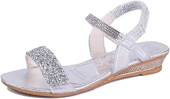 Sandales Femmes Plates,LONUPAZZ Femmes De Mode Casual D'éTé