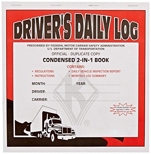 J.J. Keller 8541 2-in-1 Driver's Daily Log Book with Simplified DVIR
