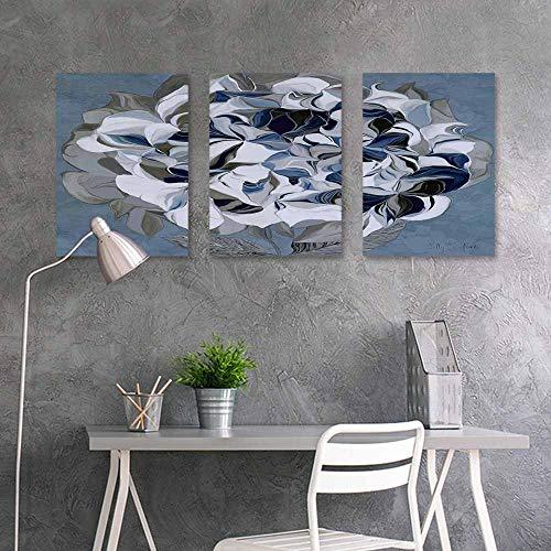 BDDLS Canvas Wall Art Sticker Murals,Decorative Flower Design Oil Painting Style (2) Modern Decorative Artwork 3 Panels,16x24inchx3pcs