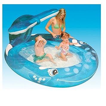 Swimmingpool im garten kinder  Kinder Schwimmbad Planschbecken Sprühender Wal Pool Wasserbecken ...