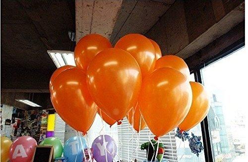 GrandShop 50341 Toy Balloons Metallic Hd Finish Orange (Pack Of (Orange Metallic Balloons)