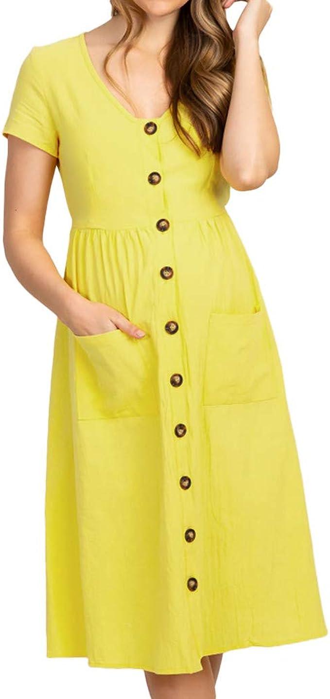 Vestidos para Premamá, Gusspower Mujer Sexy Vestido de Maternidad ...