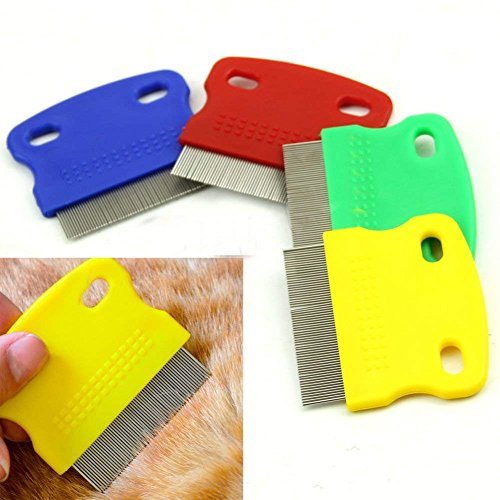 Topbeu 2PCS Pet Dog Cat Flea Combs Fine Teeth Grooming Tool by Topbeu (Image #2)
