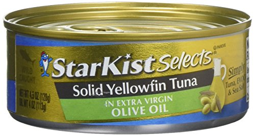 Starkist Albacore Tuna (StarKist Selects Solid Yellowfin Tuna Fillet in Extra Virgin Olive Oil, 4.5 Ounce (Pack of 4))