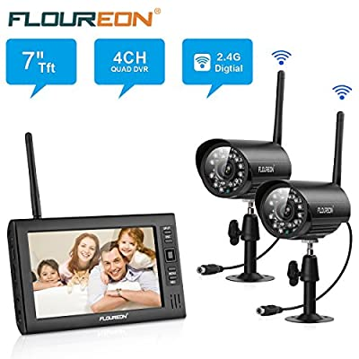 "FLOUREON Wireless Camera System Baby Monitor 7"" LCD Digital DVR Monitor + CCTV Wireless Camera by FLOUREON that we recomend personally."