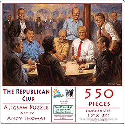 The Republican Club 550 pc Jigsaw Puzzle by SunsOut