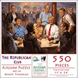 The Republican Club 550 pc Jigsaw Puzzle by SunsOut - 550 Piece Jigsaw Puzzle - Completed Size: 15x24 - Puzzle Artist: Andy Thomas - Eco-Friendly - Soy-Based Inks - Recycled Board - Proudly Made in the USA - Interlocking Pieces & Durable Construc...