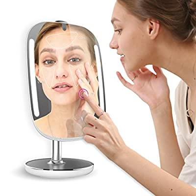 HiMirror Mini: Beauty smart mirror with LED makeup lights, makeup vanity Mirror with touch screen, your beauty consultant skin analyzer, magnifying mirror, smart makeup mirror