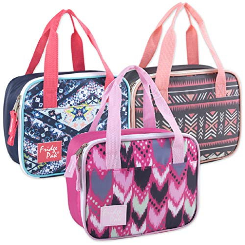 (Bulk Wholesale Case Pack of 24 Lunch Boxes/Cooler Bags for Boys Girls & Adults (Two Tone Girls))