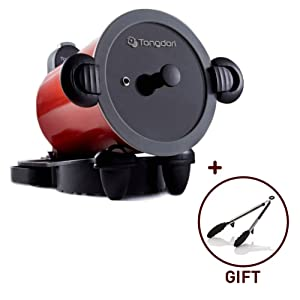 """Henz Tongdori Oven HT-2000, Roaster Indoor BBQ Grill Pan for Gas Stove, Meat roasting, Camping Grill Meat Roasting Revolution of the Oven, 13.7"""" x 11.8"""" x 10.2"""", Red"""