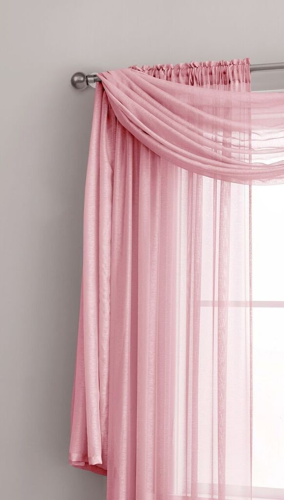 2 Pieces Living Room Navy Rod Pocket Semi-Sheer Curtains Total Size 108 W x 84 L Natural Light Flow Material Durable for Bedroom Jane Kids Room and Kitchen