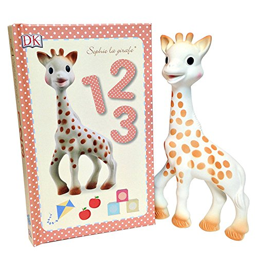 Sophie La Girafe - Giraffe Teether and Book Set (Sophie Giraffe)