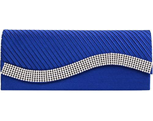 jubileens-womens-pleated-stain-evening-handbag-flap-wavy-crystal-clutch-party-bag-blue