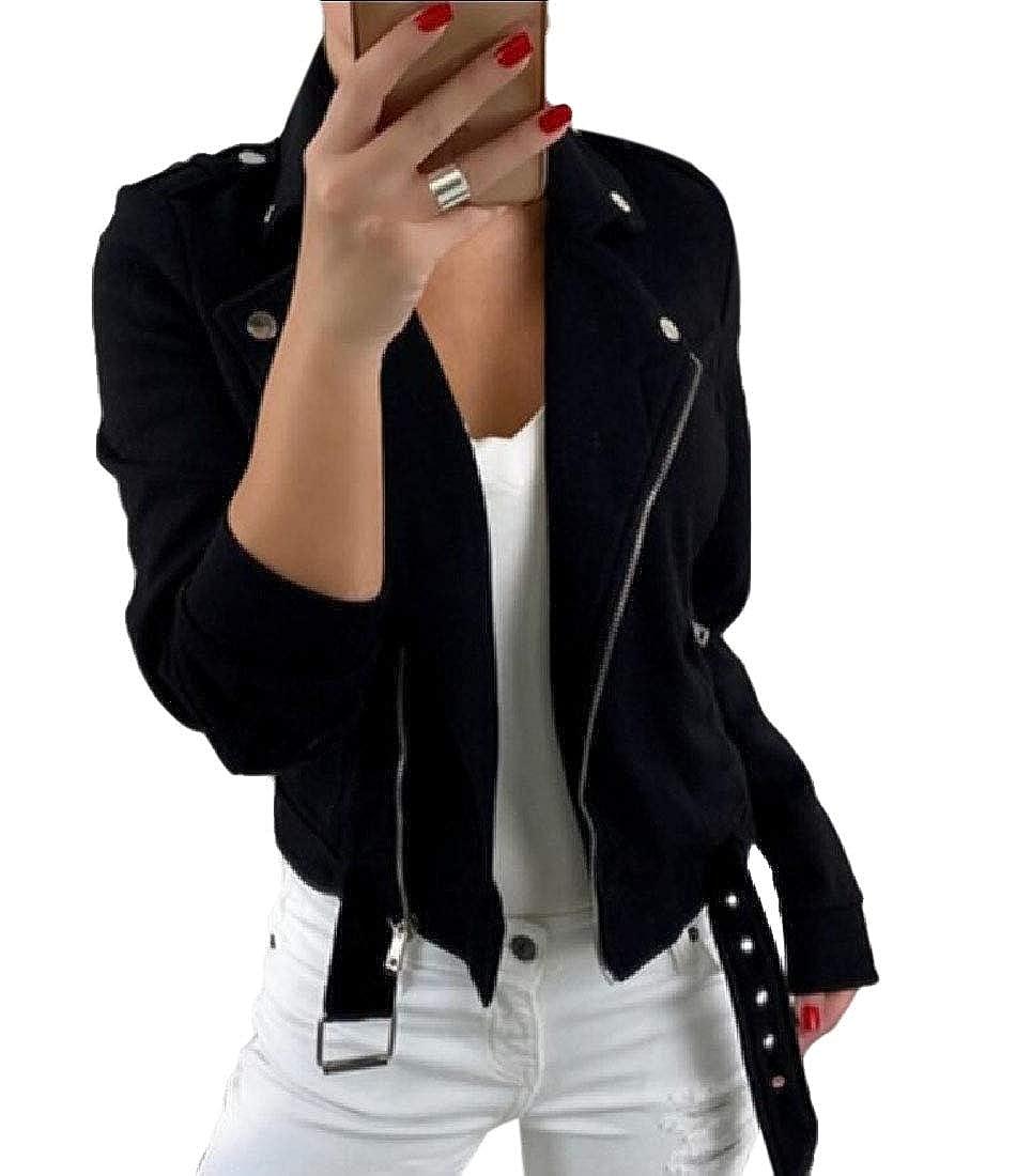 Esast Women Long Sleeve Oblique Zip Solid Color Jacket Coat Sweatshirt