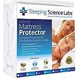 Sleeping Science Labs Queen Size Waterproof and Hypoallergenic Mattress Protector