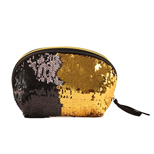 Double Wallet Women Zipper Bag Sequins Bag Cluthes Lavany Color for Handbag Gold Women xtdw0nFZ